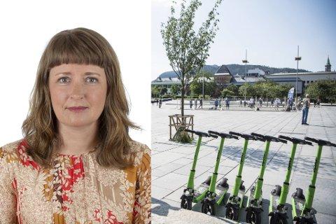 Mens elsparkesyklene suser frem og tilbake i Bergen, vet ikke Samferdselsdepartementet hva de skal gjøre for å regulere det. Statssekretær Ingelin Noresjø forteller de må begynne med blanke ark.