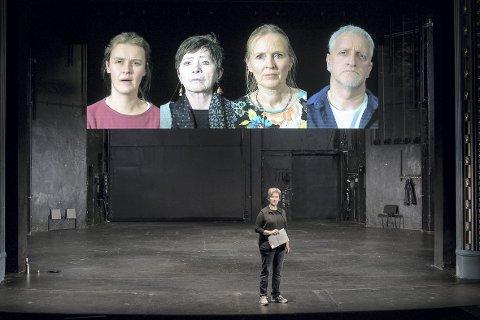 På tampen av 2018 spilte Kjersti Elvik hovedrollen i «Arv og Miljø». Koronakrisen fikk stykket opp igjen. Foto: Odd Mehus