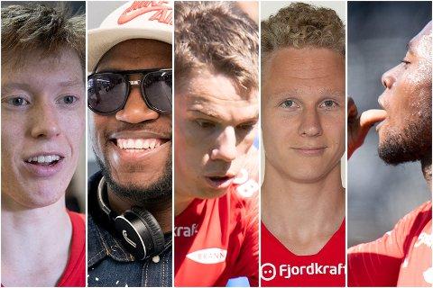 Det finnes håp! Som disse, enten de er basert på Molde-kampen sist, eller en forbedret keepersituasjon ... Fra venstre: Ole Martin Kolskogen, Ali Ahamada, Robert Taylor, Kristoffer Barmen og Gilbert Koomson.