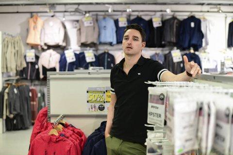 Tommy Brown, butikksjef på Sport Norge Sletten. Han har vært butikksjef siden oppstart i 2013.