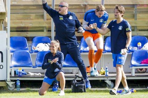 Renate Blindheim kunne slippe jubelen løs etter en drømmestart på trenerkarrieren i Sotra.