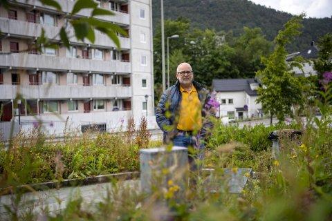 Terje Bergesen er lei av å se på at miniparken ikke blir tatt vare på.