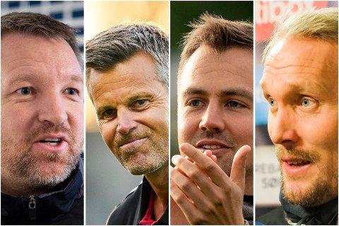 Åsanes Morten Røssland, Bodø/Glimts Kjetil Knutsen, Groruds Eirik Kjønø og KFUMS Jørgens Isnes er trenere BAs Fotballpreik-gjest har mye til overs for.