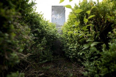 Slik ser graven på Fana kirkegård ut. Det er rundt 6100 graver på Fana kirkegård.