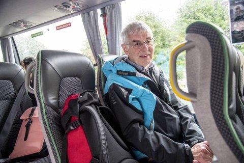 Jan Eggås måtte ta buss på den første etappen av turen sin.