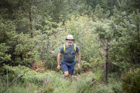 Kai Grieg (55) var den første som fullførte den 55,4 kilometers lange jubileumsstien.