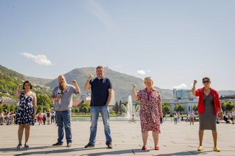 Fauzia Hussain-Wiik, Kari Bernandini, Espen Nordvik, Kristoffer Hauge Bergersen og Atia Ljaz oppfordrer bergenserne til å møte opp lørdag 22. august og gi SIAN vebal motstand, om de får lov eller ikke.