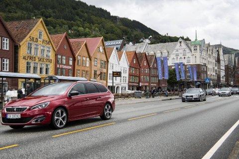 Trafikken i sentrum har gått kraftig ned etter at Torget og Bryggen ble stengt.