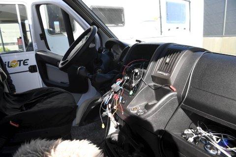 Tyvene har stukket av med stereoanlegg og navigasjonsutstyr fra bobilene.