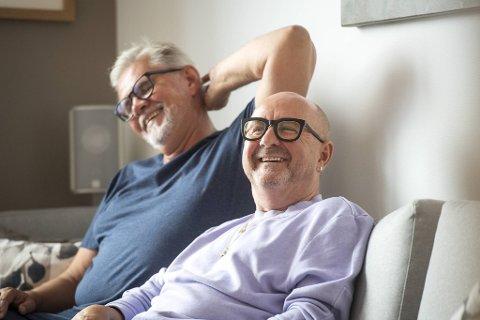 Øystein Kvamsdal og Trond Skeide Johannessen har vært kjærester i to år. Begge er enige i at de har funnet meningen med livet igjen.