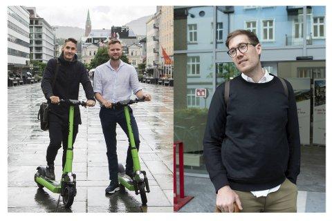 Thor Haakon Bakke i MDG (t.h.) tapte første runde mot Ryde, men har ikke tenkt å gi seg. Til venstre er Espen Rønneberg og Johan Olofsson i Ryde Technology.