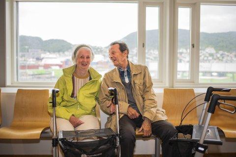 Nora og Lars Hochlin var aldri bekymret under turen med MS «Midnatsol».