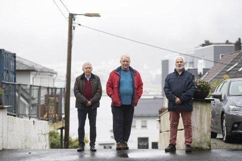 Jan-Erik Hanøy (f.v.) , Svein Erik Eliassen og Erik A. Grahl-Madsen er tre av dem som har fått ny fastlege i en annen bydel.