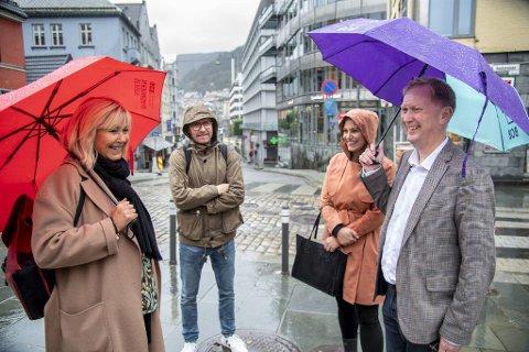 Fra venstre: Marit Warncke i Bergen Næringsråd, Gard Haugland i Bien og NHO Reiseliv Vest-Norge, Helena Torkelsen Sævereid og Harald Schjelderup i BOB.