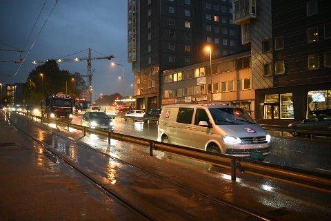 Det var mye trafikk inn mot Bergen sentrum tirsdag morgen.