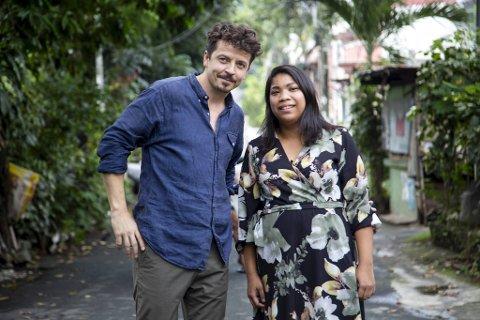 Programleder Geir Fredriksen tok med seg Cristina Maria Ådland til Filippinene sammen med tv-programmet «Sporløs».