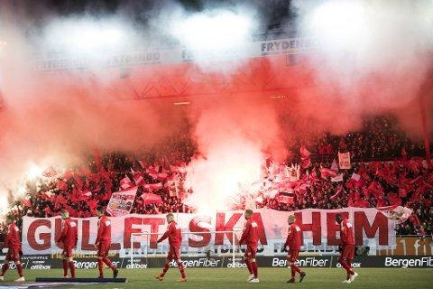 Brann har bare hatt 200 tilskuere på kamp i år. Det har ført til store økonomiske tap for klubben. Dette bildet er fra 2018.