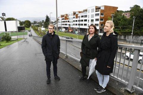 Martin Mæle, Camilla Nøttveit og Marianne Nygaard Årdal mener det ene utbyggingsprosjektet på Skjold avløser det neste uten gode nok fellesløsninger.