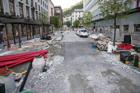 Olav Kyrres gate blir ikke ferdig i tide, og det skaper trøbbel for Skyss