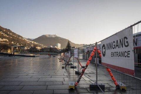 Det var ingen kø ved teststasjonen på Festplassen en time etter åpningstid 1. januar.