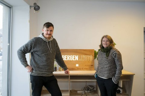 Birk Nygaard og Marianne Rønning er ansiktene bak Bergen Lights.