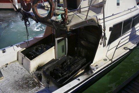 Skadene på båten vitner om dramaet som utspant seg.