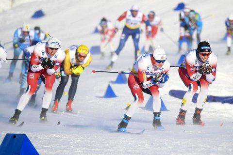 Sjur Røthe holdt seg på beina, men måtte ta til takke med en 5.-plass, fire sekunder bak Aleksandr Bolsjunov.