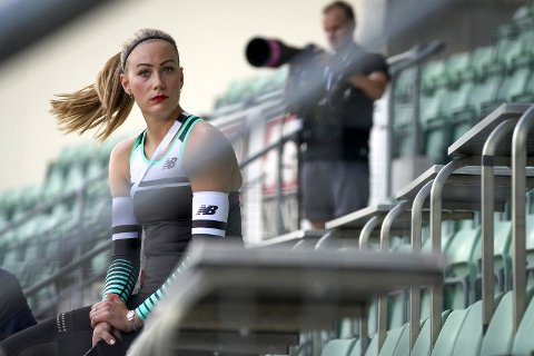 Isabelle Pedersen (29) vil ifølge sportssjef Erlend Slokvik bruke de neste ukene på å bestemme seg for om hun skal fortsette friidrettssatsingen. Arkivfoto: Heiko Junge, NTB
