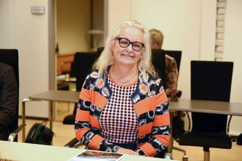 Ruth Grung er den nye sosialbyråden i Bergen. Her er hun på plass på byrådslederens kontor.