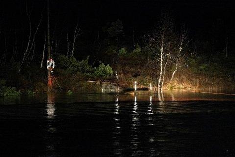 Det fjellvante hyttefolket brukte dette tauet som sikkerhet når elven skulle krysset. Nå er to menn og en kvinne savnet ved Tokagjelet.