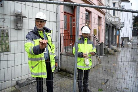Byggingeniør Magnar Helland i Multiconsult har brukt mye tid på saken i Vestre Torggaten denne uken.