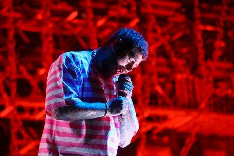 Post Malone spilte på en festival i New York 26. september. Til sommeren kommer han til Bergen.