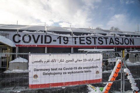 Det  har vært travelt ved teststasjonen på Festplassen hittil denne uken.