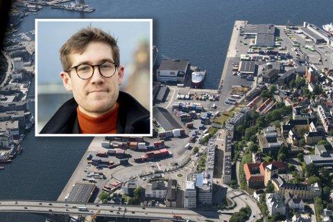 – En ny firefelts vei med så mye trafikk bidrar ikke til å skape en ny og fredelig bydel på Dokken, sier byråd Thor Haakon Bakke (MDG).