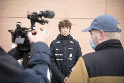 Niklas Jensen Wassberg (16) var den Brann-spilleren alle ville snakke med etter Branns seier mot Bodø/Glimt.