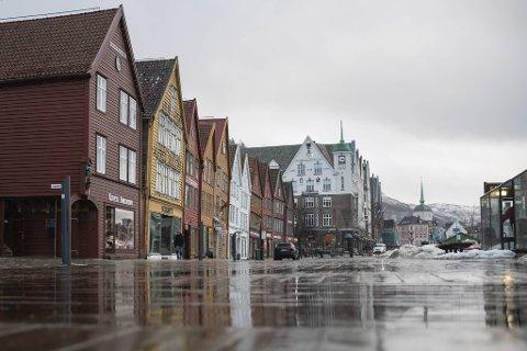 Det blir en grå uke i Bergen, med tirsdag som det foreløpige høydepunktet.