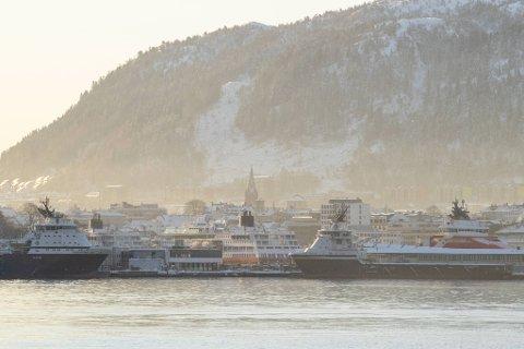 Torsdag var det 10,4 minusgrader i Bergen sentrum.