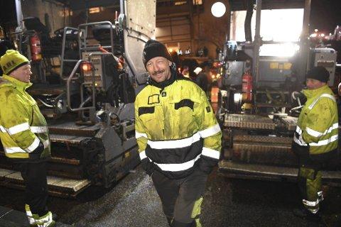 Daglig leder Knut Almestad i Askøy Dekkelegging ble rørt støtten under protestaksjonen like før jul.