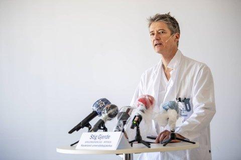 Stig Gjerde, seksjonsoverlege ved Intensivavdelingen på Haukeland sykehus.