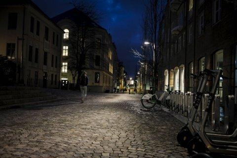 Her i Fosswinckels gate skal en av kvinnene ha blitt trakassert.
