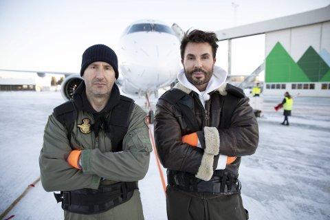 Får Harald Rønneberg og Jan Thomas dratt et 40 tonn tungt jetfly på Flesland?