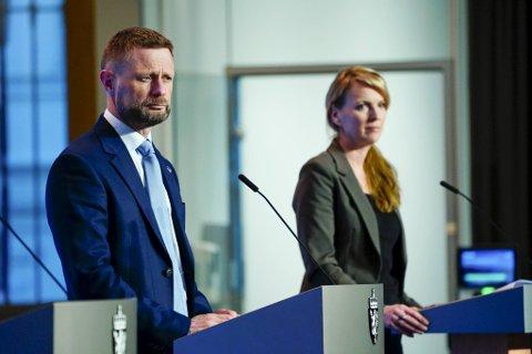 Helseminister Bent Høie kom med nye innstramminger tirsdag kveld.