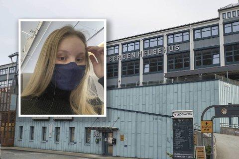 20 år gamle Karoline Mellingen Karlsen er fortvilet over feilen som ble gjort ved legevakten før helgen.