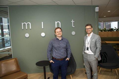 Styreleder Øystein Fanebust (t.v.) og byråleder Glenn Takvam har størst eierposter i Mint Media AS.
