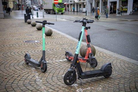 Kommunen ønsker blant annet at alle løperhjul som parkeres i sentrum skal parkeres i bestemte parkeringssoner.
