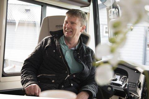 Tommy Hansen ser fram til å tilbringe mykje tid med familien i den nye bubilen fra Morelo framover.
