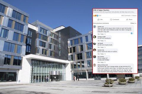 Sbanken har hovedkontor i Bergen. Mange kunder reagerer på DNBs planer.