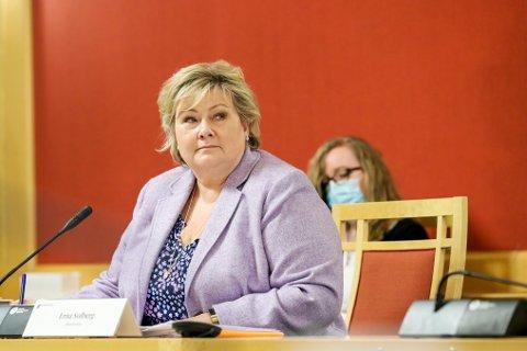 Statsminister Erna Solberg var mandag kalt inn til høring i utenriks- og forsvarskomiteen på Stortinget i forbindelse med Bergen Engines-saken.