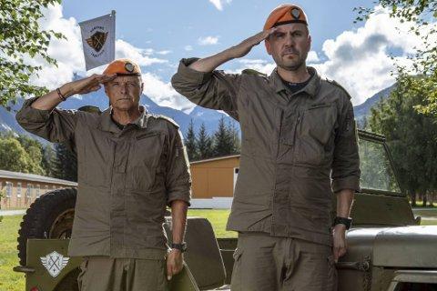 Dag Otto Lauritzen (fra v.) og Kristian Ødegård leder TV 2-suksessen som inspirerer mange ungdommer til å søke utdanning i Forsvaret.