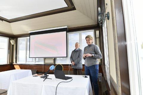 Bjart Nygaard og Anita Nybø i Fløibanen AS presenterte planene torsdag formiddag. Store endringer skjer på banen, og medfører stengt bane i et halvt år, permitterte ansatte, men også et mye bedre tilbud.